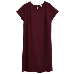 Cuyana Maroon Ponte Tee Dress